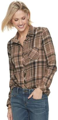 Sonoma Goods For Life Petite SONOMA Goods for Life Plaid Flannel Shirt