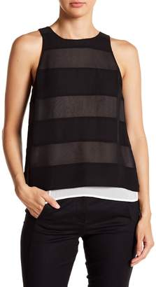 Chelsea and Walker Stripe Silk Tank Top