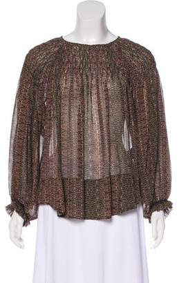 Isabel Marant Printed Silk Top