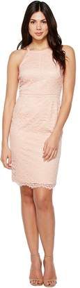 Vince Camuto Lace Bodycon Dress with Trim Women's Dress