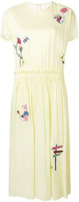 Mira Mikati embroidered tulle back dress