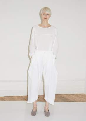 Issey Miyake Pleated Cotton Wide Leg Pants