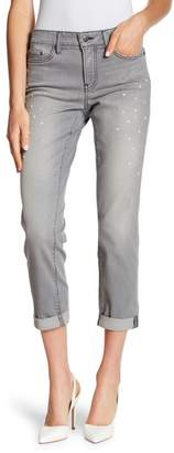 NYDJ Faux Pearl Embellished Boyfriend Jeans