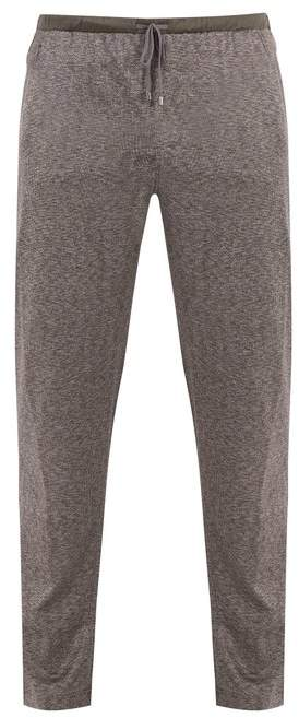 Zimmerli Jacquard cotton and silk-blend jersey trousers