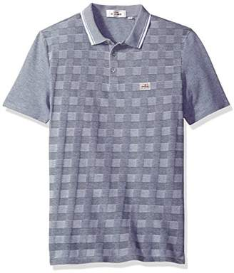 Ben Sherman Men's 2tone Pique Chkrboard Polo
