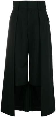 Comme des Garcons double-layer cropped trousers