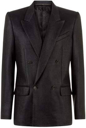 Givenchy Twill Laque Double Breasted Blazer