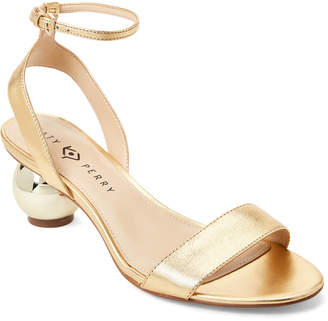 Katy Perry Gold Adventure Ankle Strap Sandals