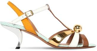 Marni 60mm Leather Sandals
