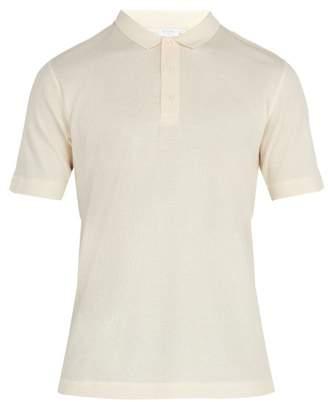Sunspel Cotton Waffle Polo Shirt - Mens - White