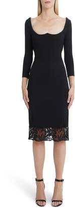 Versace First Line Lace Hem Body-Con Dress