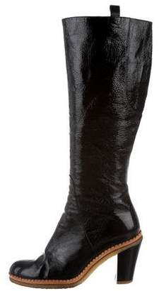 Kenzo Leather Distressed Boots
