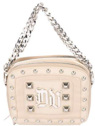Versace Studded Patent Leather Handle Bag