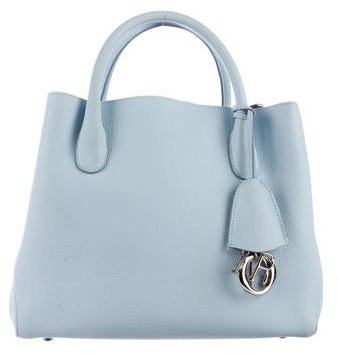 Christian Dior Leather Small Open Bar Tote
