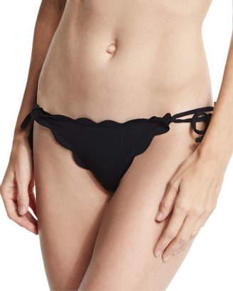 f94f392f00b35 Marysia Swim Mott Tie-Side Scalloped Swim Bikini Bottom