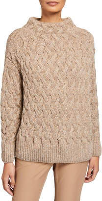 Lafayette 148 New York Cable-Knit Cashmere Sweater