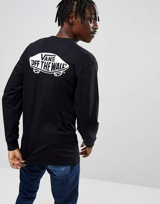 Vans OTW Long Sleeve Top With Back Print In Black VA36TTY28