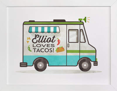 Taco Truck Children's Custom Art Print