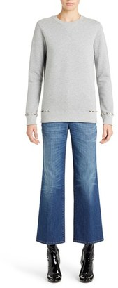 Women's Valentino Studded Crewneck Sweatshirt $1,690 thestylecure.com