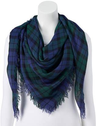 Candies Women's Candie's Green Plaid Square Scarf