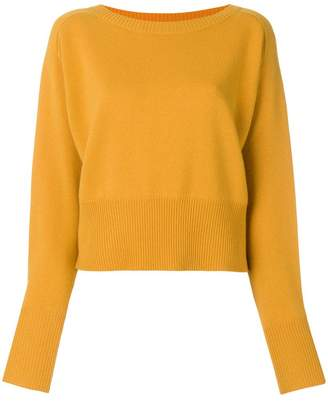 Theory cropped cashmere jumper