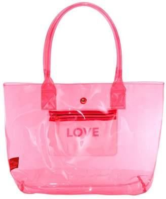 Saks Fifth Avenue Love Translucent Neon Tote Bag