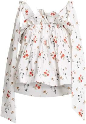 DAY Birger et Mikkelsen TEIJA Floral-print ruffle blouse