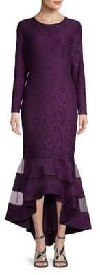 Lauren Ralph Lauren Long Sleeve Lace Mermaid Midi Dress