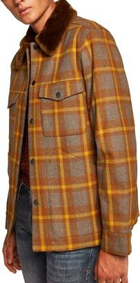 Topman Borg Lined Classic Wool Jacket