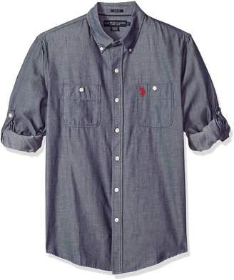 U.S. Polo Assn. Men's Long Sleeve Slim Fit Striped Shirt