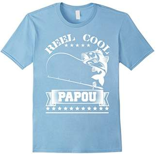 Reel Cool Papou T-Shirt Fishing Grandfather Father's Gift