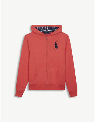 Ralph Lauren Embroidered logo zip-through cotton-blend hoody 6-14 years