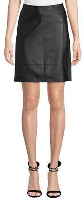 Elie Tahari Lexie Leather Pencil Skirt