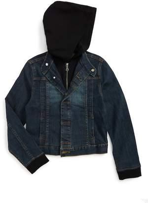 Hudson Hooded Denim Jacket (Toddler Boys, Little Boys & Big Boys)