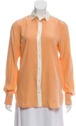 Celine Silk Button-Up Blouse