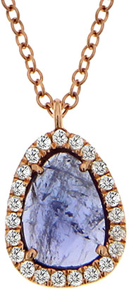 Meira T 14K Rose Gold & Silver 1.05 Ct. Tw. Diamond & Tanzanite Necklace