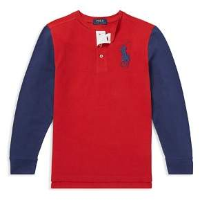 Ralph Lauren Boys' Cotton Mesh Henley Shirt - Baby