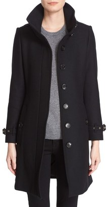 Women's Burberry Gibbsmoore Funnel Collar Trench Coat
