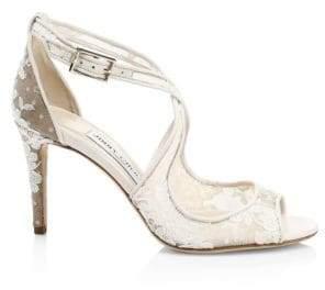 Jimmy Choo Emily Lace Crisscross Sandals