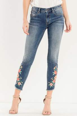 Miss Me Embroidered Skinny Jean