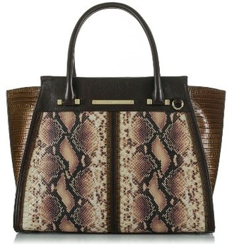 Brahmin Ellora - Priscilla Embossed Leather Satchel - Brown $465 thestylecure.com