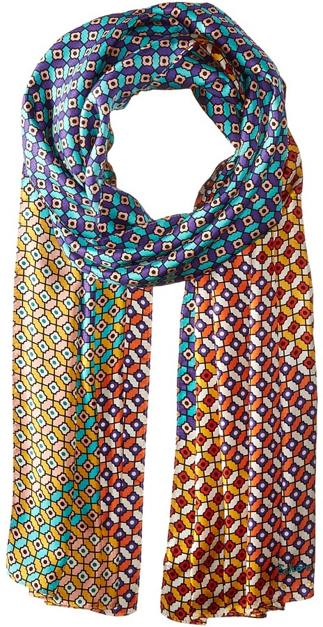 Echo Design - Villa Tile Silk Oblong Scarf Scarves