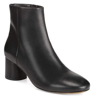 Vince Women's Tillie Round-Toe Mid-Heel Leather Booties