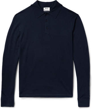 Acne Studios Nadir Knitted Wool Polo Shirt