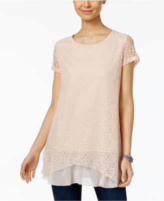 Style & Co Lace Layered-Hem Tunic, Only at Macy's $49.50 thestylecure.com