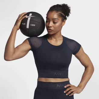 Nike Pro Deluxe Cropped Women's Short Sleeve Training Top