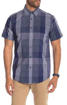 Ben Sherman Exploded Check Print Short Sleeve Shirt