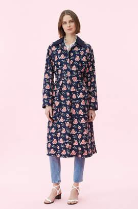 Rebecca Taylor La Vie Adelle Floral Trench Coat