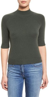 Theory Jodi B Cashmere Mock-Neck Sweater $207 thestylecure.com