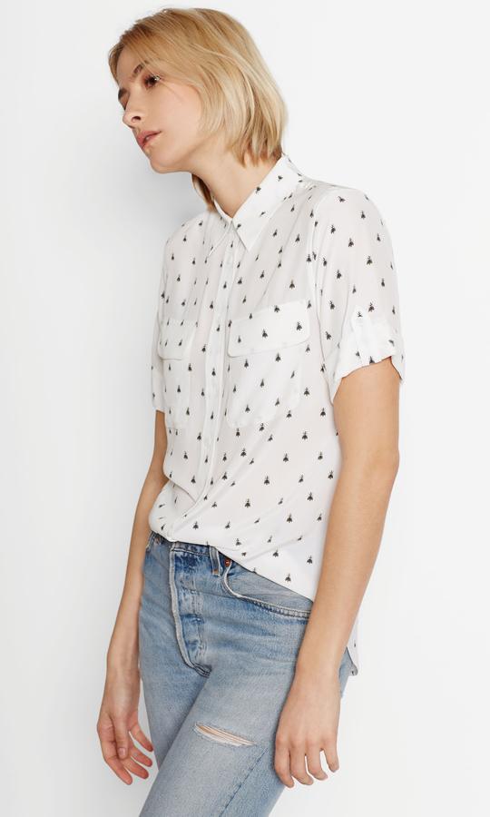 EquipmentShort Sleeve Slim Signature Silk Shirt